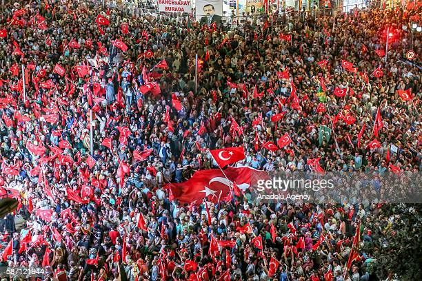 People gather to support Democracy and Martyrs' Rally held to protest against the July 15 failed coup by the Fetullah Terrorist Organization in...