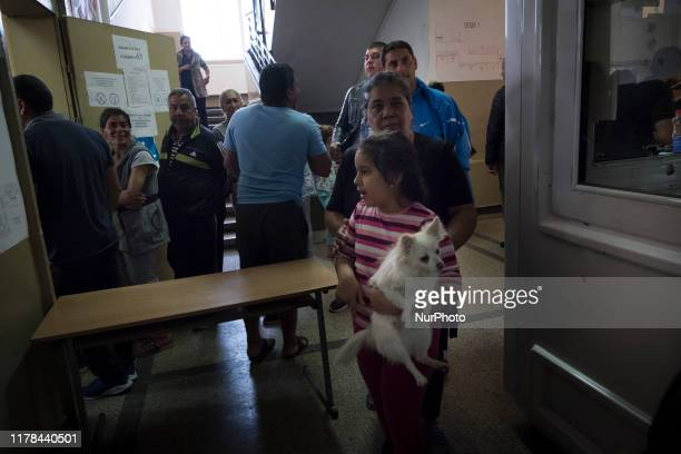 People gather to vote in the Fakulteta a majority Roma area of Sofia and part of Krasno Polyana municipality Across Bulgaria elections for municipal...