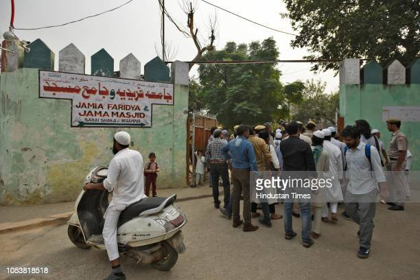 People gathered at the mosque after an eightyearold student of a Madrasa died after he sustained a head injury during a scuffle between two groups of...