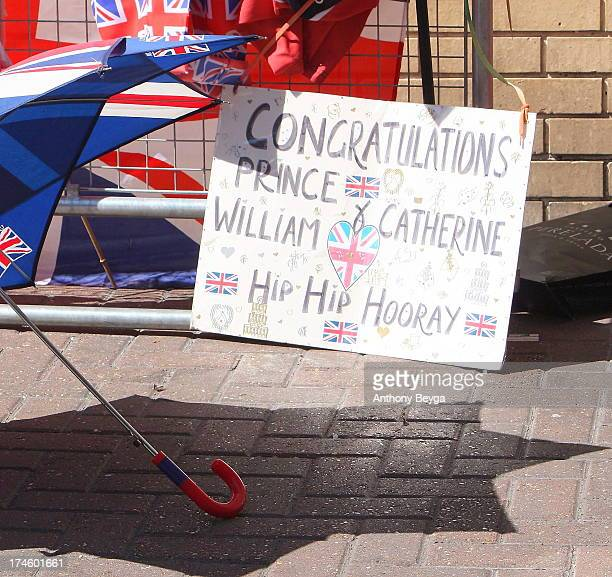 People gathered days in advance to await the arrival of the new Royal Baby. The well wishers set up camp outside the Lindo Wing of St Mary's Hospital...