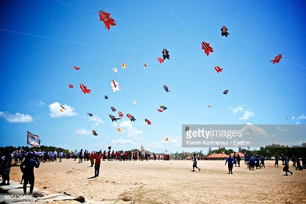 People Gathered On Beach For Kite Festival