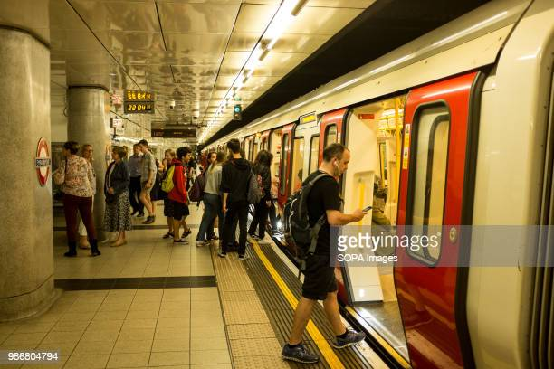 People getting in and out of the London underground London is the Capital city of England and the United Kingdom it is located in the south east of...