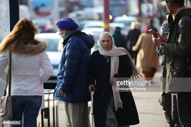People go about their daily lives in Soho Road, Handsworth, famous for its multi-cultural residents on March 23, 2017 in Birmingham, England. After...