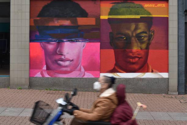 GBR: Marcus Rashford Mural In Southend