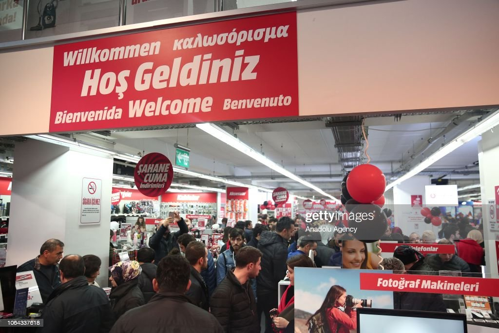 People Go Shopping At Mediamarkt On A Special Discount Night Within News Photo Getty Images