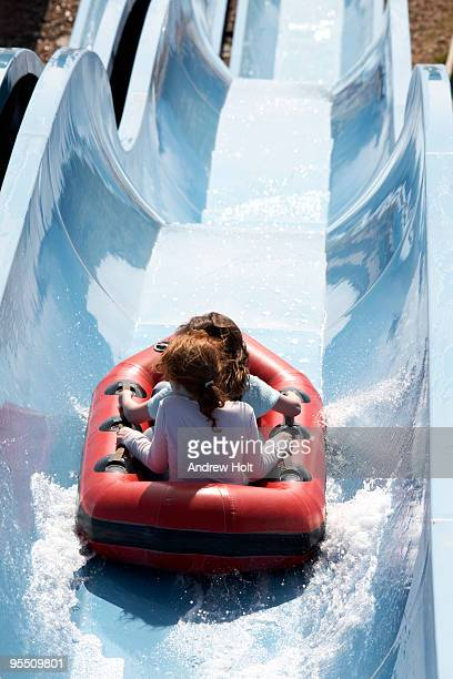 People going down a waterslide