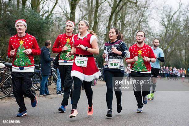 People had the chance to show pride in their ugly sweater as their sweat it out at the national Ugly Sweater Run at the Vondelpark in Amsterdam on...