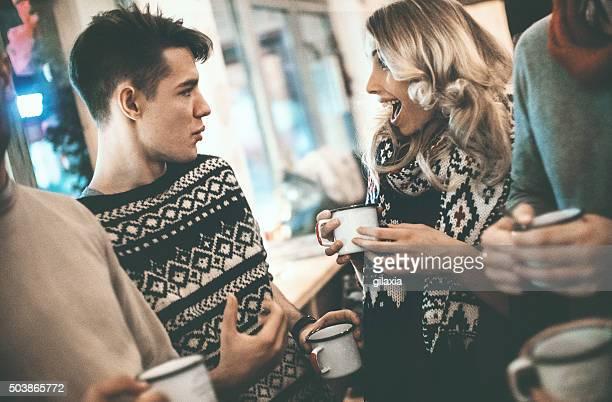Menschen Entspannen mit Kaffee.