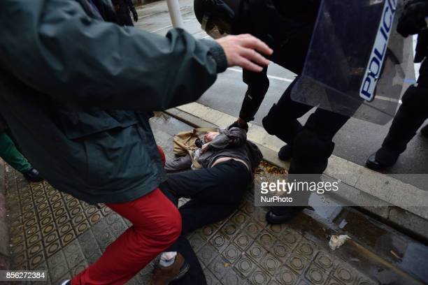 People have begun to vote on the referendum of Catalonia when state and riot police intervened brutally to end the vote and take away the urns from...