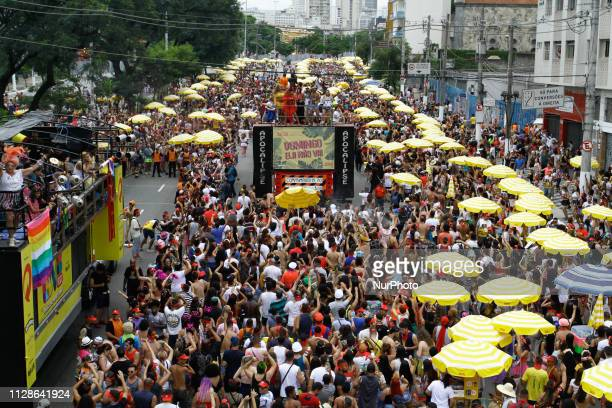 People have fun in the street block Sunday She Do not Go in the carnival 2019 in the avenue Tiradentes north zone of São Paulo on the afternoon of...