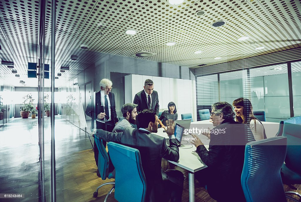 People Having a Business Meeting : Stock Photo