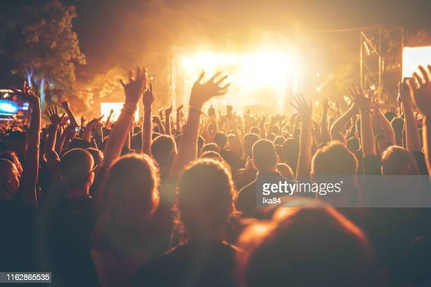 people having fun at a concert - serbia stock pictures, royalty-free photos & images