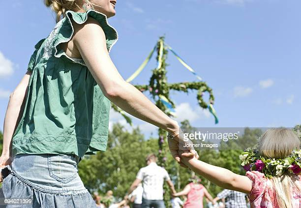 people having fun in park - midsommar stock pictures, royalty-free photos & images
