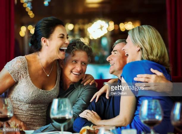 People having fun in restaurant