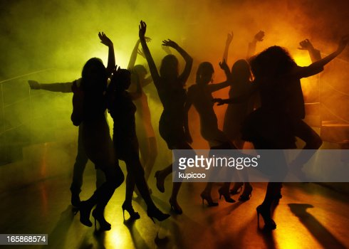 Young people dancing in club or disco, the girls and boys ...  |People Having Fun In A Club