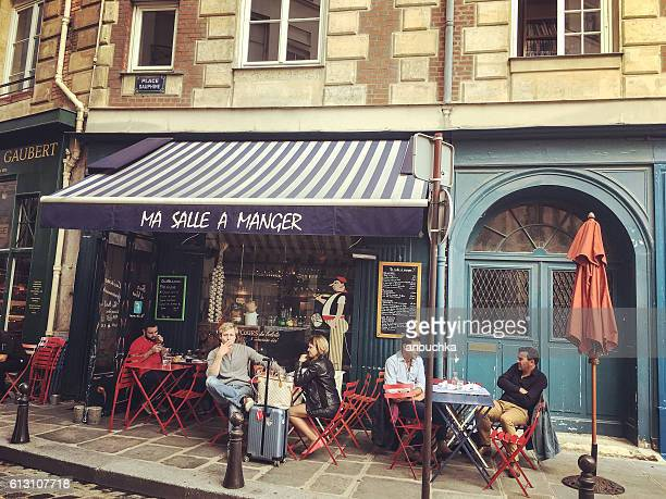 People having lunch in Paris, France