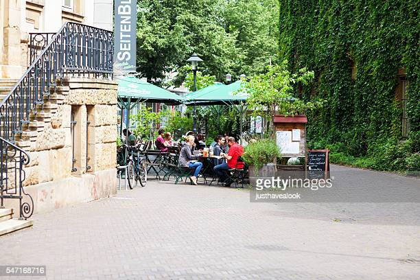 People having lunch in summer