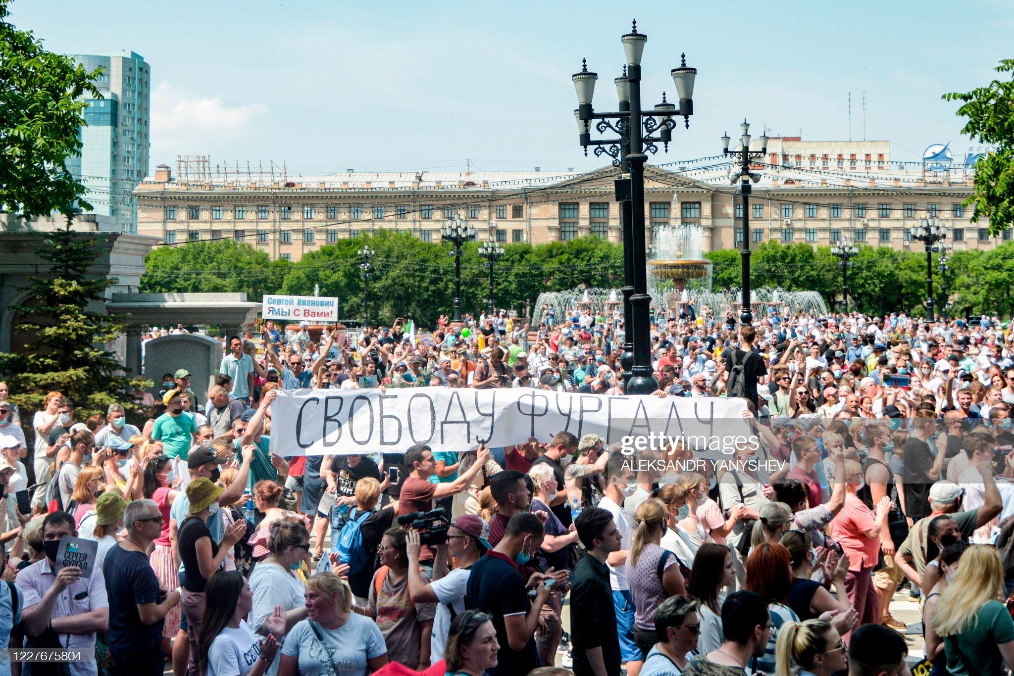 Nga: 10.000 người ở Cực Đông biểu tình ủng hộ thống đốc phe đối ...