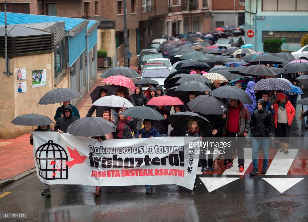 SPAIN-ETA-ARREST-DEMO : News Photo