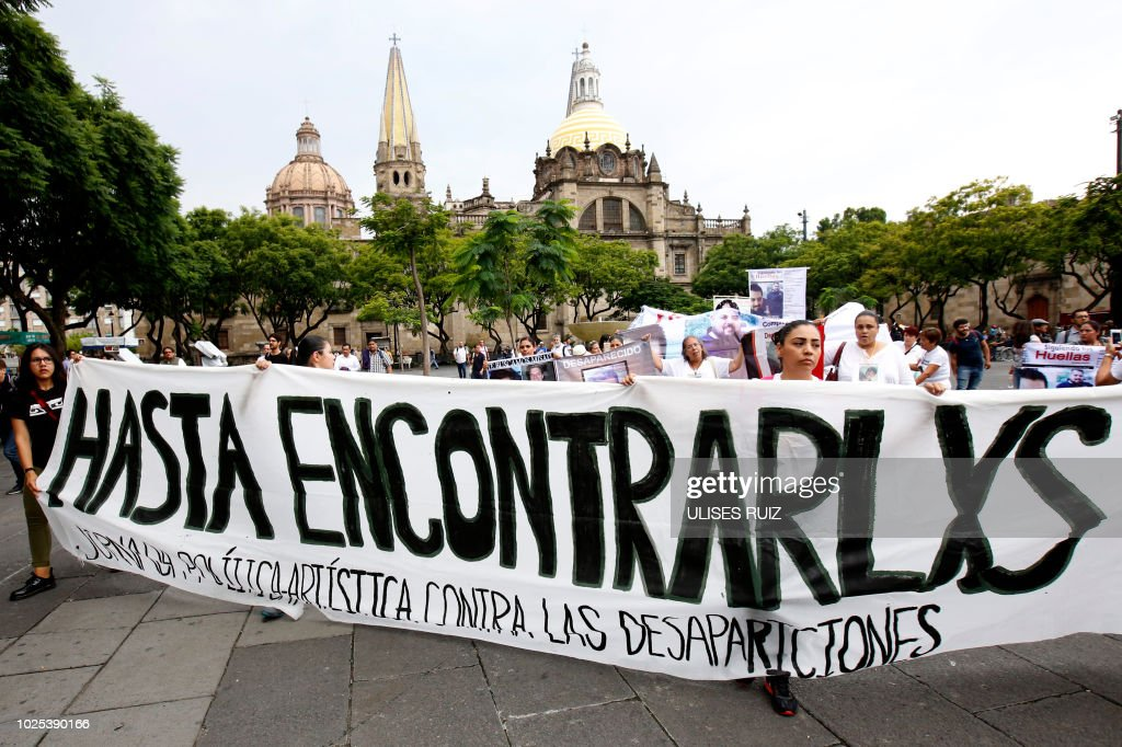 MEXICO-RIGHTS-DISAPPEARED : News Photo