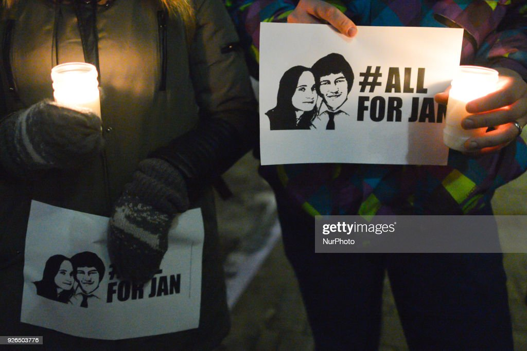 Krakows Protest Vigils In Memory Of Murdered Slovakian Journalist