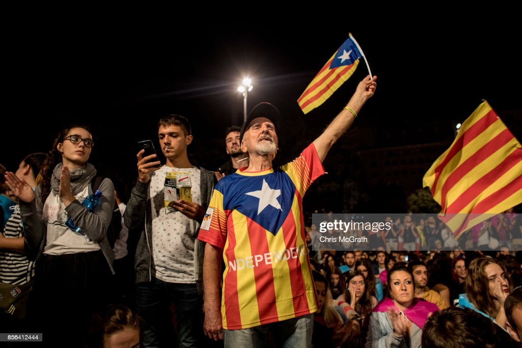 Independence Referendum Takes Place In Catalonia : News Photo