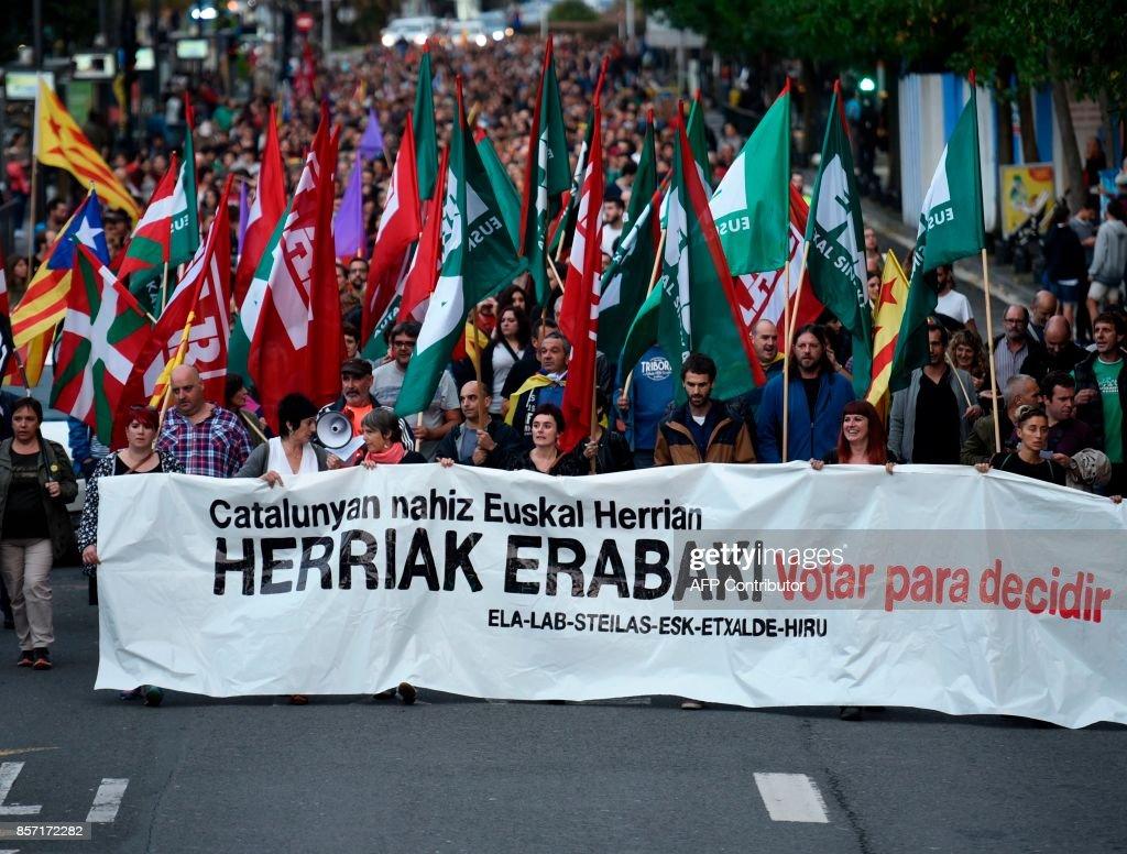 SPAIN-BASQUES-CATALONIA-POLITICS-STRIKE : Nieuwsfoto's