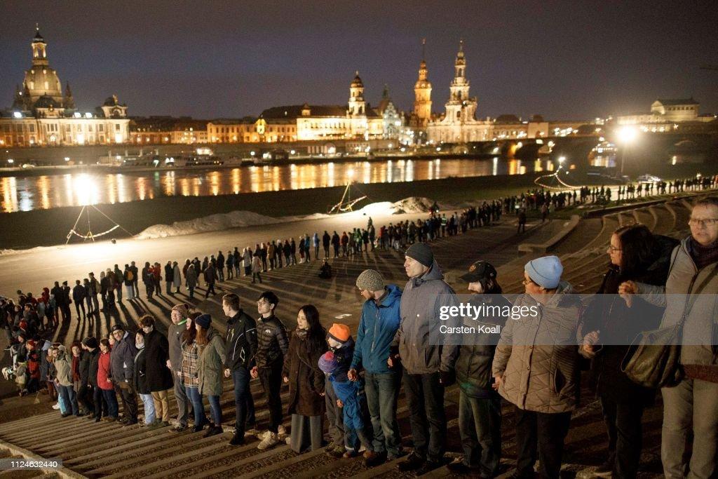 Dresden Commemorates World War II Firebombing Anniversary : News Photo