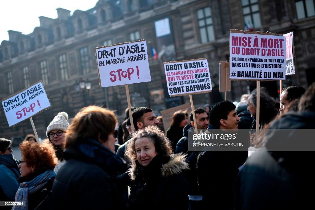FRANCE-REFUGEE-MIGRANTS-SOCIAL-LAW-OPFRA-DEMO : News Photo