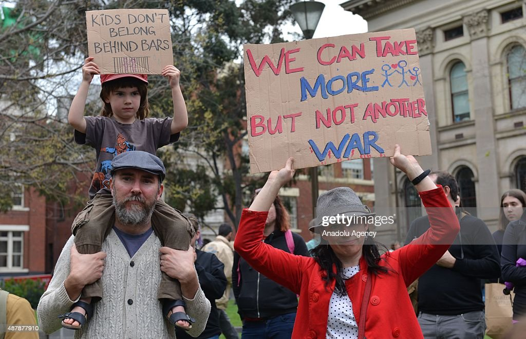Protest in Melbourne to demand more refugee intake : News Photo