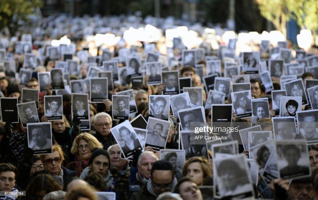 ARGENTINA-AMIA-TERROR-ATTACK-ANNIVERSARY : News Photo