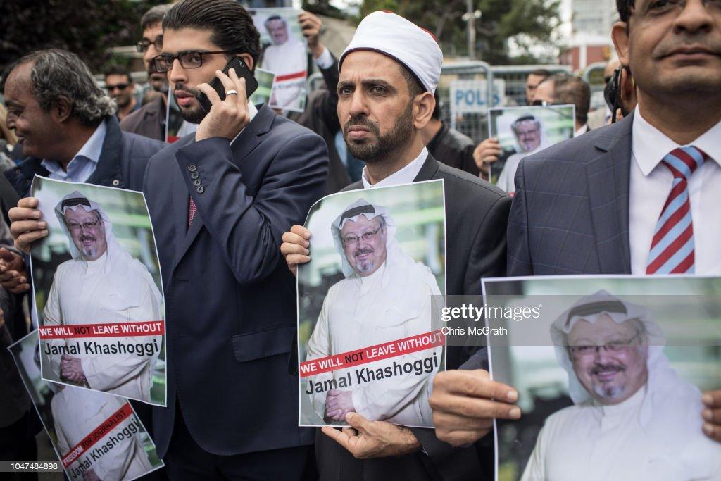 Fears Grow Over Fate of Missing Journalist Jamal Khashoggi : News Photo