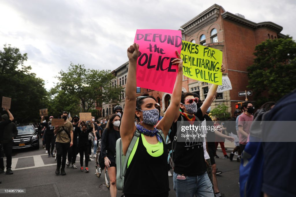 Protests Against Police Brutality Over Death Of George Floyd Continue In NYC : News Photo