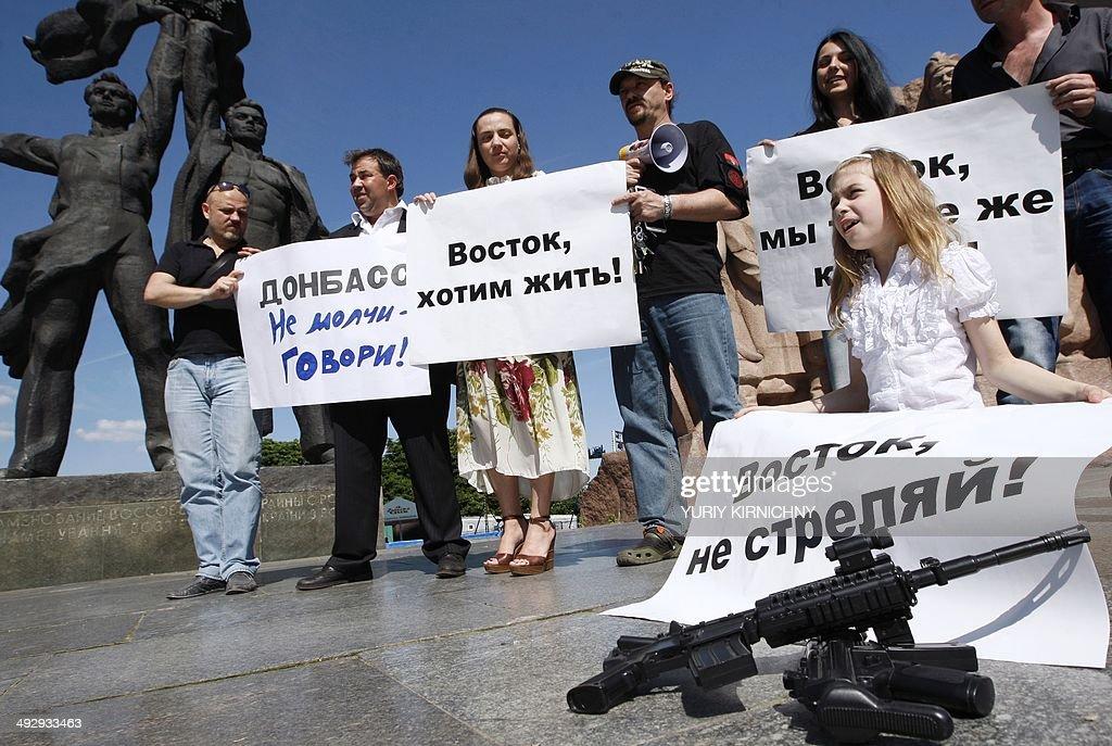 UKRAINE-UNREST-RUSSIA-CRISIS-POLITICS-PROTEST : News Photo