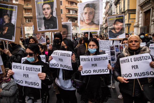 ITA: Demonstration For Ugo Russo In Naples