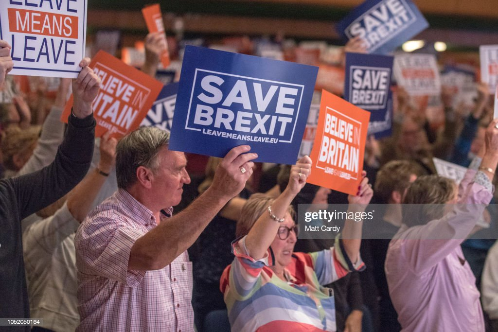 Leave Means Leave Supporters Walkabout And Rally In Torquay : News Photo