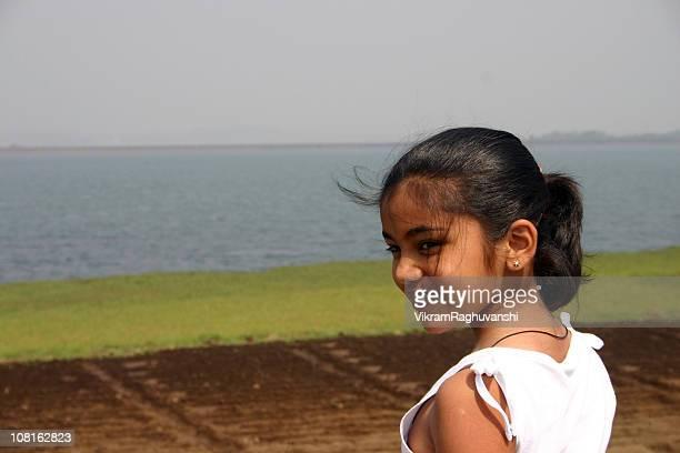 People Horizontal Portrait of Indian charming Sweet Girl Child Kid