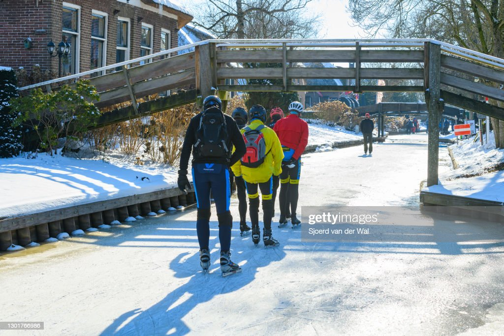People Ice Skating in The Netherlands : News Photo