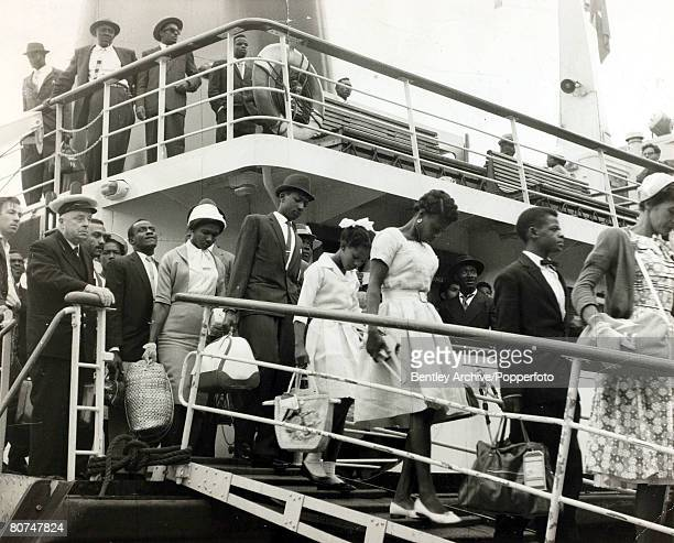 1st July 1962 Immigrants from the Caribbean arrive at Southampton