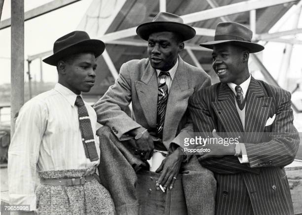 22nd June 1948 Some of the first Immigrants from the Caribbean island of Jamaica arrive at Tilbury London on board the ' Empire Windrush'