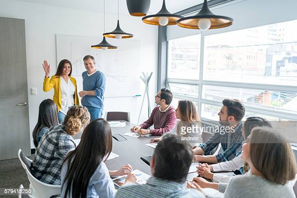 people in a business meeting - organized group stock pictures, royalty-free photos & images