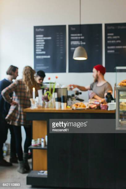 People in a cafe