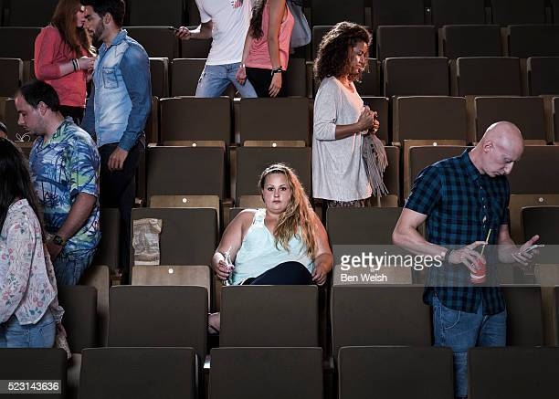 People in a cinema.