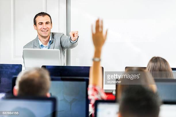 Menschen in einem computer-Klasse.