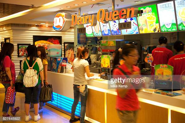 People in a fast food restaurant inside Joy City Shopping ...