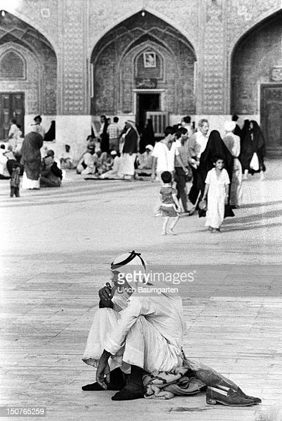 People in a mosque of the Iraqi capital city Baghdad