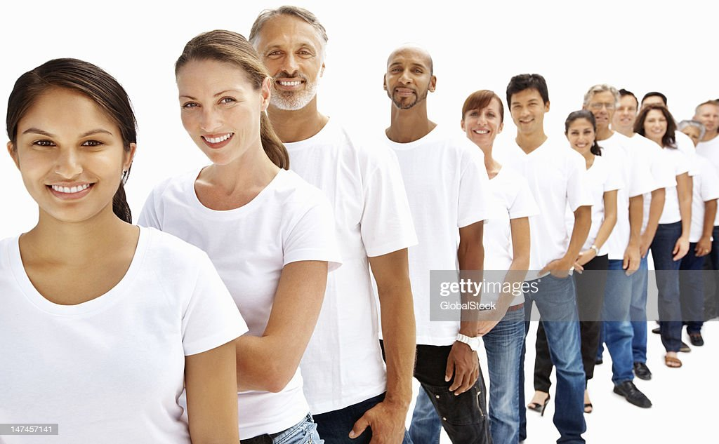 People in a row : Stock Photo