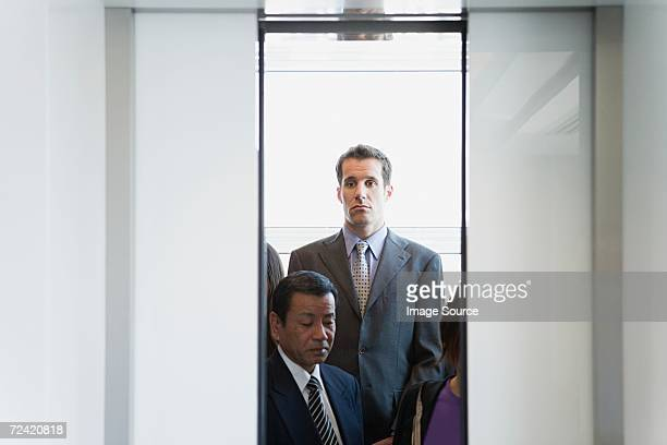 People in an elevator