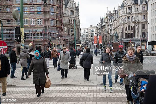 People in Antwerp, Belgium