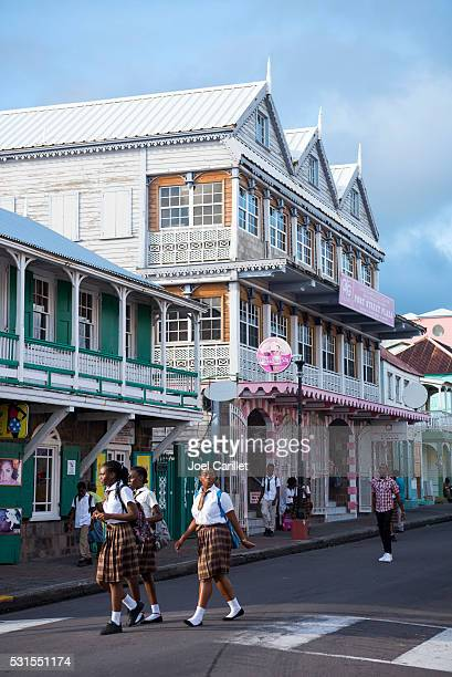 people in basseterre, saint kitts and nevis - st. kitts stock photos and pictures